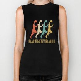 Basketball Player Retro Pop Art Graphic Biker Tank
