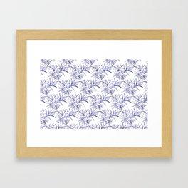 Lilium Speciosum (white) Framed Art Print