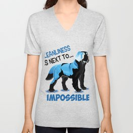 (tshirt) cleanliness is next to impossible (2) (invert) Unisex V-Neck