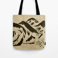 Sleepy Bear Mountain Tote Bag