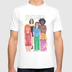 The Spice Girls White LARGE Mens Fitted Tee