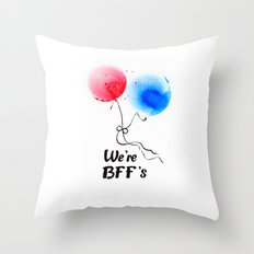 We're BFF's Throw Pillow