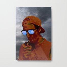 The Smoker Metal Print