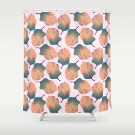 Canna Tropicanna Leaves in Pastel Shower Curtain