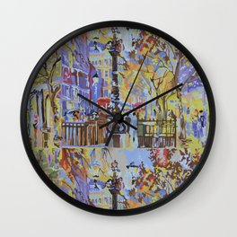 paint by numbers pattern Wall Clock