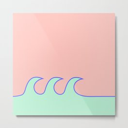 Sea Foam-o (Millennial Pink Edition) Metal Print