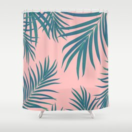 Palm Leaves Pattern Blush Vibes #1 #tropical #decor #art #society6 Shower Curtain