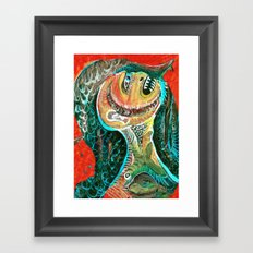 The Big Tooth Ache Framed Art Print