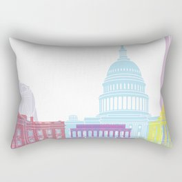 Washington DC skyline pop Rectangular Pillow