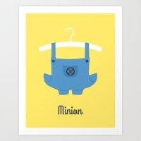 minion Art Prints featuring Minion by Jane Mathieu