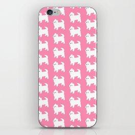 Westies Pink Pattern iPhone Skin