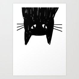 Jess The Black and White Cat Art Print