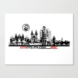 Prague black and white Canvas Print