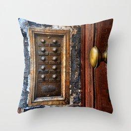 door bell Throw Pillow