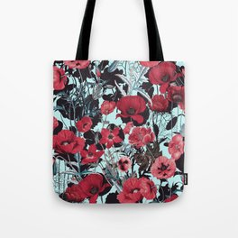 Poppy Floral Pattern Tote Bag