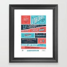 Movie poster june 12 Framed Art Print