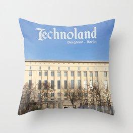 Technoland, Berlin, the Techno Meca Club! Throw Pillow