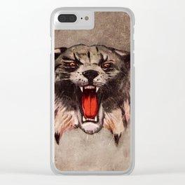 Savage Bobcat Clear iPhone Case