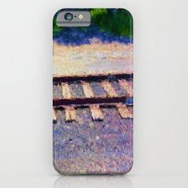 Pastel Railroad tracks iPhone Case