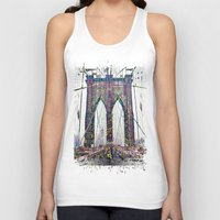 brooklyn bridge Tank Tops featuring brooklyn bridge by Vector Art