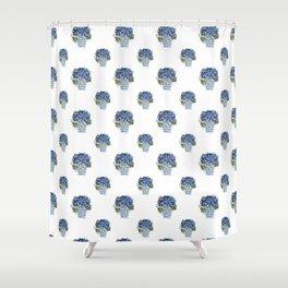 Hydrangea Chinoiserie Jenna Shower Curtain