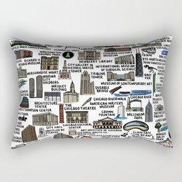 Chicago Map  Rectangular Pillow