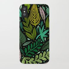 Green Scatter iPhone X Slim Case