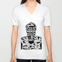 sandra dieckmann V-neck T-shirts featuring Sandra Bland - Black Lives Matter - Series - Black Voices by NOxLA