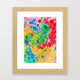 Marbling 4, Tie Dye Effect Abstract Pattern Framed Art Print