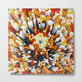 Colorful 3D Extrusion Metal Print