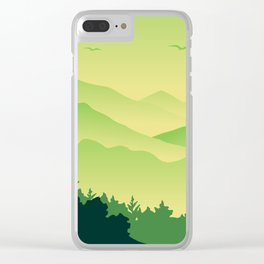 Natural Green Jungle Clear iPhone Case