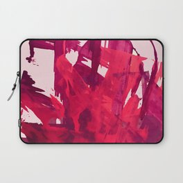 Embers: a vibrant abstract piece in pinks Laptop Sleeve