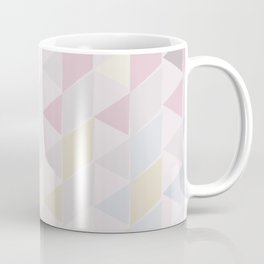 Shapes in Soft Colors on Dusty Rose Coffee Mug