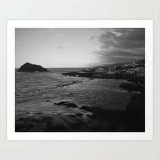 Garachico in black and white Art Print