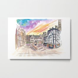 The Shambles Square in Manchester England Metal Print