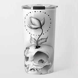 Skull Flower Travel Mug
