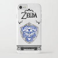 majora iPhone & iPod Cases featuring Zelda legend - Hylian shield by Art & Be