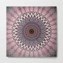 Pink grey Flower Mandala Design by artaddiction45