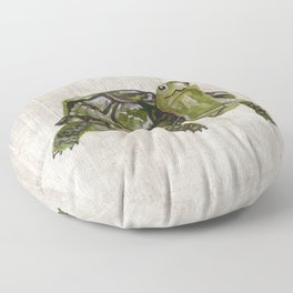 Little Turtle, Forest Animals, Woodland Decor, Woodland Art, Floor Pillow