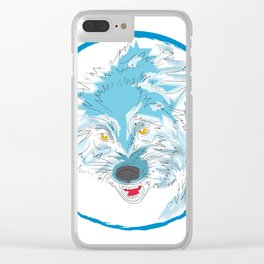 00 - WOLF Clear iPhone Case