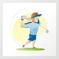 golf Art Prints featuring Golf by Dues Creatius