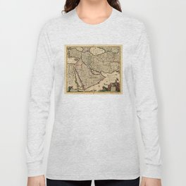 Map of the Middle East (1666) Long Sleeve T-shirt