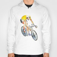cafe racer Hoodies featuring Racer by drawgood