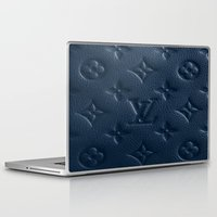lv Laptop & iPad Skins featuring Blue LV by I Love Decor