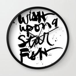 Wish Upon A Starfish Wall Clock