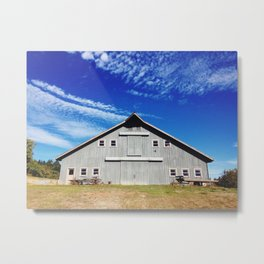 APPLE FARM BARN Metal Print