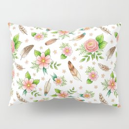 Feathers and Flowers Pillow Sham