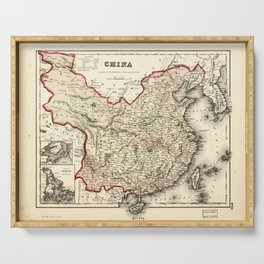 Map of China (1857) Serving Tray