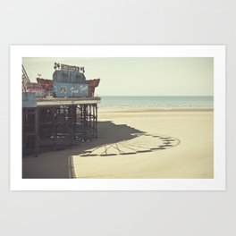 Summer by the beach Art Print