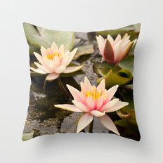 Pale pink lilies Throw Pillow